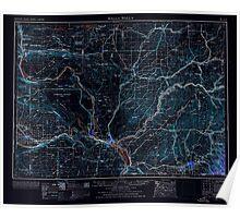 USGS Topo Map Washington Walla Walla 244507 1953 250000 Inverted Poster
