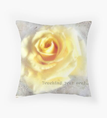 Touching your soul... Throw Pillow
