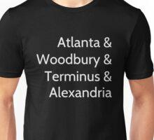 The Walking Dead LOcations Unisex T-Shirt