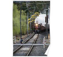 Steam rail K153 approaching Wattle Glen 20150830 0232 Poster