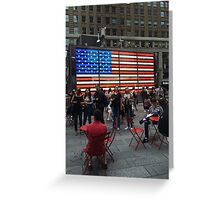 American Flag- Times Square Greeting Card