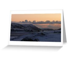 Tingwall valley sunset Greeting Card