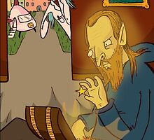 Mantus Sees the Fairy Creature Fagin Looking Through Treasures on Victoriana by RONBAXLEYJR
