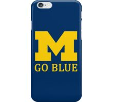 M Go Blue iPhone Case/Skin
