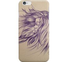 Hair Blowing in the Wind iPhone Case/Skin