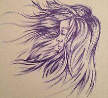 Hair Blowing in the Wind by XanderHuafei