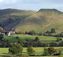Thorpe Cloud in the sunshine by Paul  Green