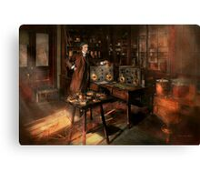 Steampunk - The time traveler 1920 Canvas Print