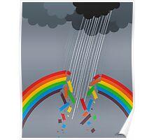 BROKEN RAINBOW - BRUSH AND GOUACHE Poster