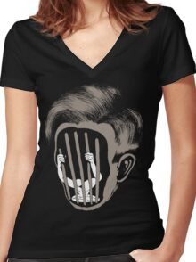 cell Women's Fitted V-Neck T-Shirt
