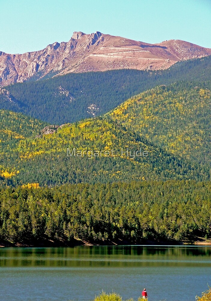 Pikes Peak and Crystal Lake, Colorado, USA by Margaret  Hyde