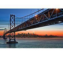 That Darned Bridge… at Sunset Photographic Print