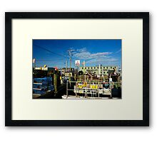 Kelly and Sons marina. Framed Print
