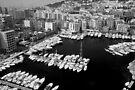 Beautiful Monaco Harbor ~ Black & White by Lucinda Walter