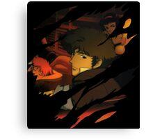 cowboy bebop spike spiegel faye edward jet anime manga shirt Canvas Print