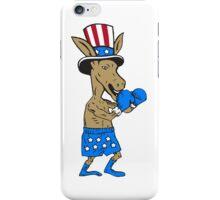 Democrat Donkey Boxer Mascot Cartoon iPhone Case/Skin