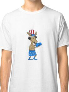Democrat Donkey Boxer Mascot Cartoon Classic T-Shirt