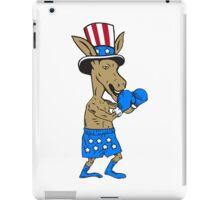 Democrat Donkey Boxer Mascot Cartoon iPad Case/Skin