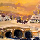 Sleigh Ride By The Creek  by Helena Bebirian