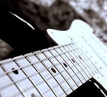 Strings of an Electric guitar by Andreas  Berheide