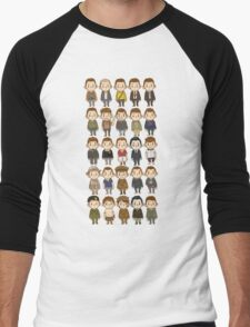 Jack O'Connell Chibi Filmography Men's Baseball ¾ T-Shirt