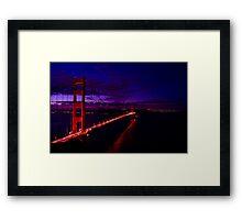 Golden Gate Sunrise HDR Framed Print