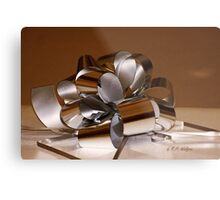 Holiday Ribbon Metal Print