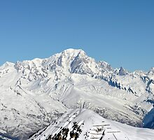 Mont Blanc from the Grand Rochette, France by Chris Monks