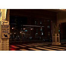 Stop Here on Red Photographic Print