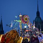 Oktoberfest Skyline at Dusk by kweirich