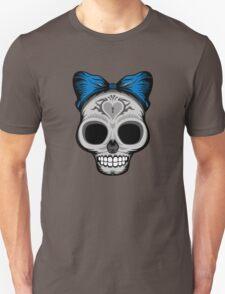 Ms. Sugar Skull (blue) Unisex T-Shirt
