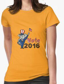 Vote 2016 Republican Mascot Waving Flag Cartoon T-Shirt