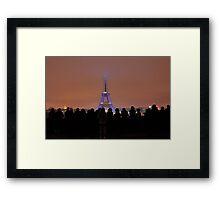 Eiffel Tower Light Show Framed Print