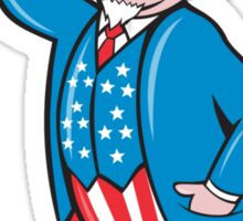 Uncle Sam American Pointing Up Cartoon Sticker