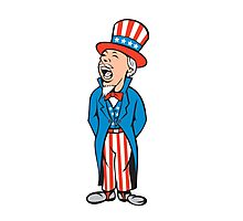 Uncle Sam American Shouting Cartoon Photographic Print