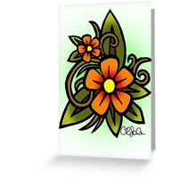 Flowers Dull Greeting Card