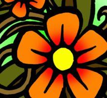 Flowers Dull Sticker