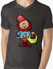 Gnome in the garden Mens V-Neck T-Shirt