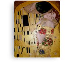 'The Kiss' - A tribute to Klimt Canvas Print