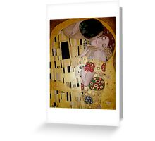 'The Kiss' - A tribute to Klimt Greeting Card