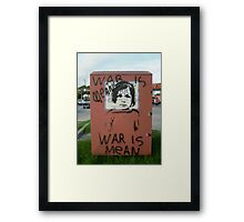 War is Mean Framed Print