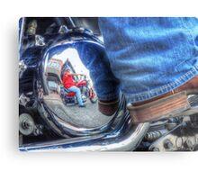 Denim, Boots & Chrome Metal Print
