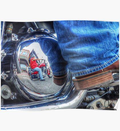 Denim, Boots & Chrome Poster