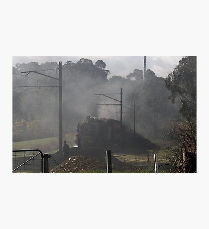Excursion Train leaving Ellendale Rd 20150830 0216   Photographic Print