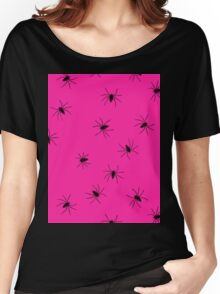 hot pink spider Women's Relaxed Fit T-Shirt