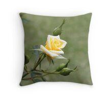 Pale Yellow Throw Pillow