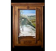 'Through the Wardrobe' - Fantasy, trompe l'oeil style Photographic Print