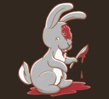 Creepy cute bunny zombie by jazzydevil