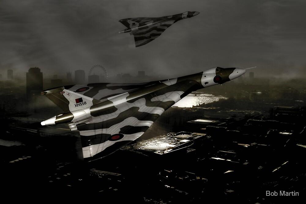 Vulcans over London by Bob Martin