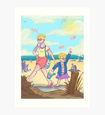 Summer Time Sun Burns Art Print